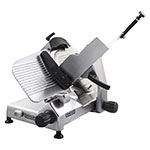 "Hobart EDGE12 Manual Medium Duty Slicer w/ 12"" Knife & Top Mount Sharpener, Aluminum Finish"