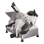 "Hobart EDGE13 Manual Medium Duty Slicer w/ 13"" Knife & Top Mount Sharpener, Aluminum Finish"