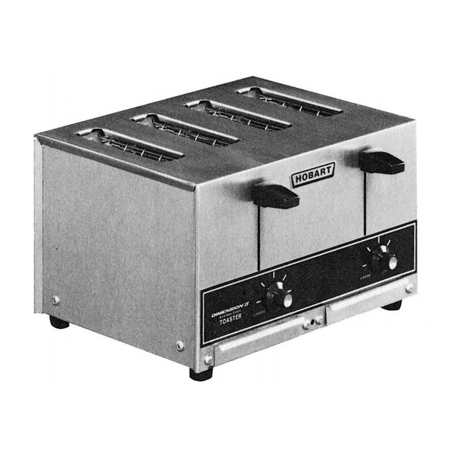 "Hobart ET27-5 Slot Toaster - 290-Slices/hr w/ 1""W Product Opening, 208v/1ph"
