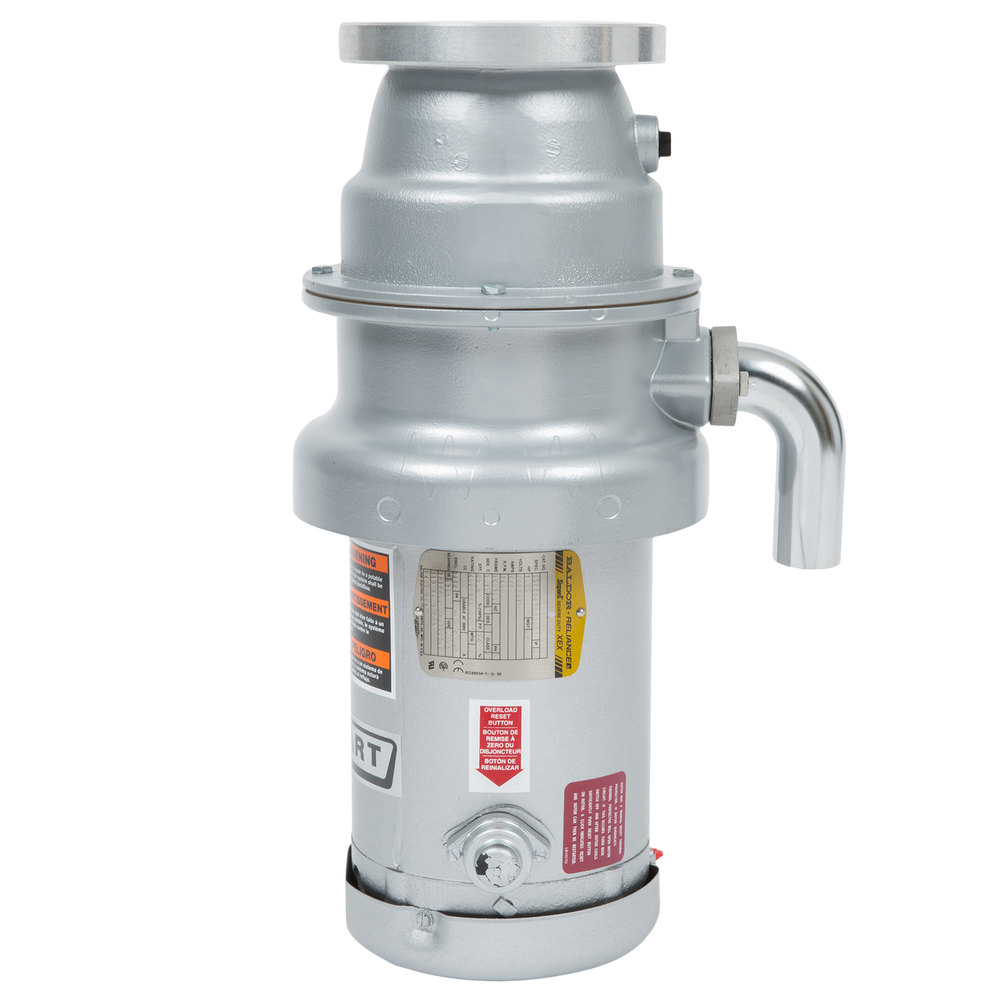 Hobart FD4/125-1 Garbage Disposer w/ Short Upper Housing - 1.25 HP, 208-240v/480v/3ph
