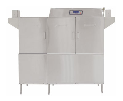 Hobart CLPS66E-7 Right To Left 30-kW Booster Conveyor Dishwasher w/ 1-Tank, 208/3 V