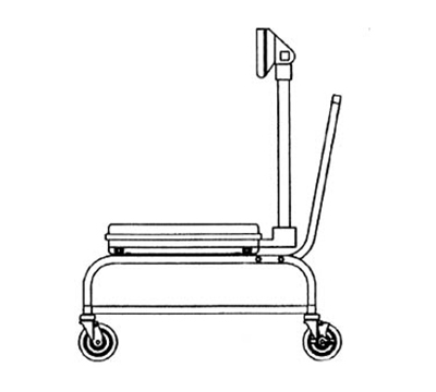 Hobart HBR300-STAND Mobile Scale Stand w/ 4-Swivel Casters Rear Locking & Cart Handles