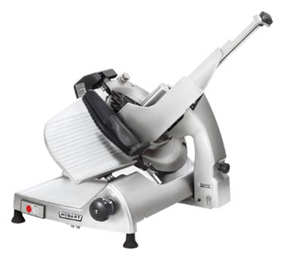 Hobart HS6N-1 Manual Heavy Duty Slicer w/ 13-in Knife & Top Mount Sharpener, Burnished Finish