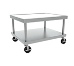 Hobart STAND/C-36 37x24-in Equipment Stand w/ Marine Edge, Undershelf & 5-in Casters, Stainless