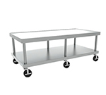 Hobart STAND/C-72 73x24-in Equipment Stand w/ Marine Edge, Undershelf & 5-in Casters, Stainless