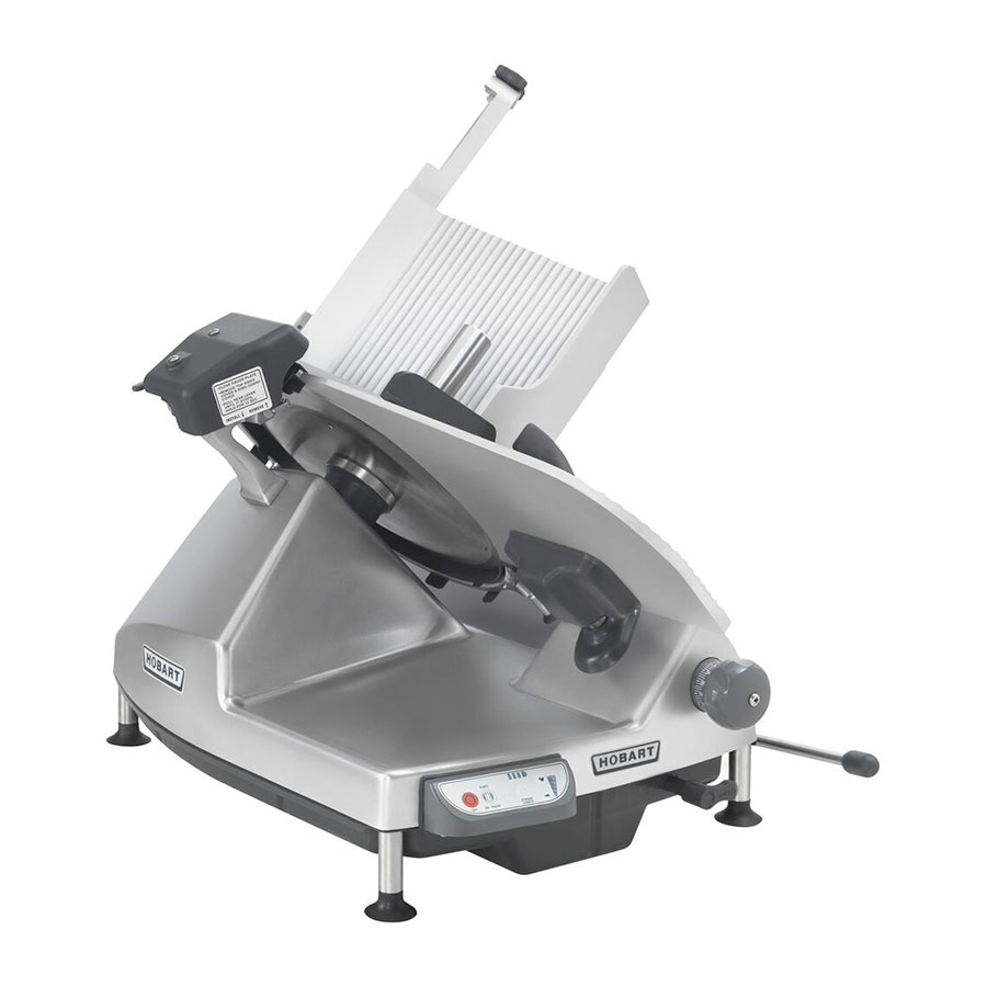 "Hobart HS9-1 Heavy Duty Automatic Slicer 13"" Removable Knife Anodized Finish 6"" Terlocks"