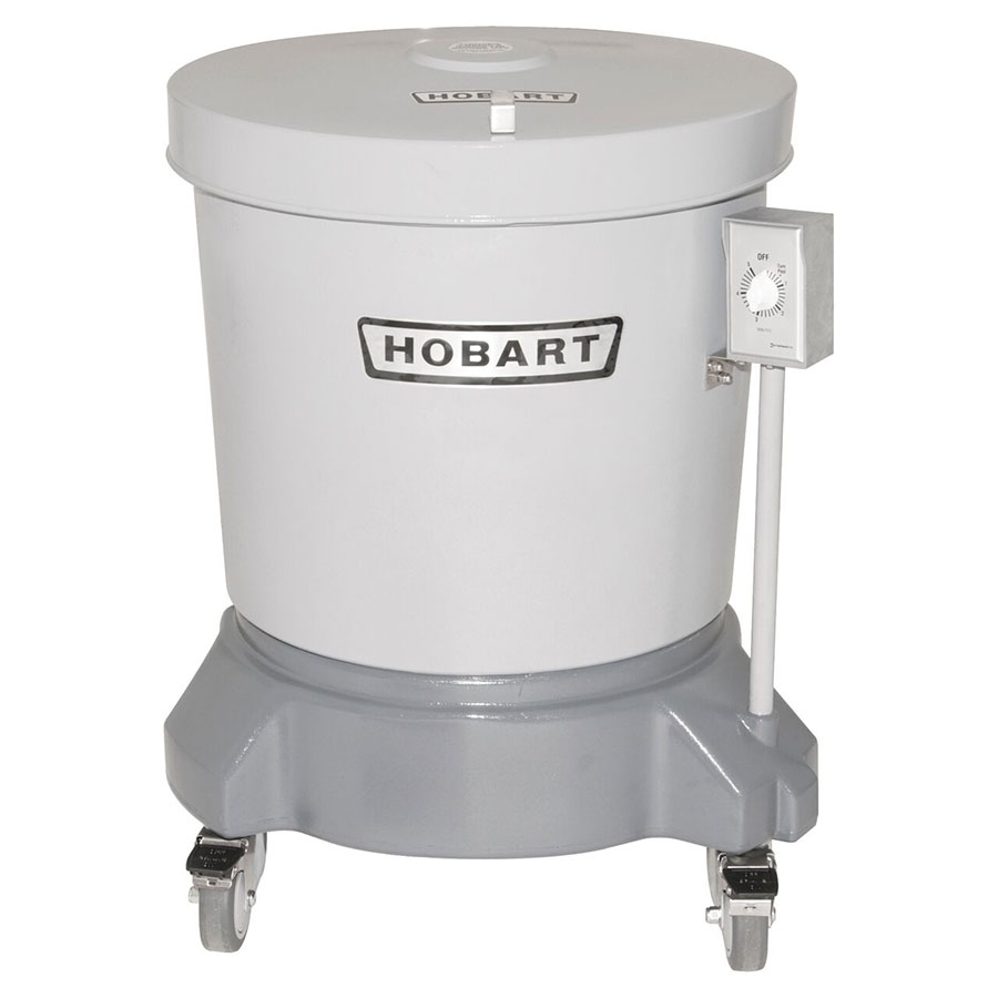 Hobart SDPE-12 20-Gallon Salad Dryer w/ Floor Drain & Polyethylene Shell, 220/1 V