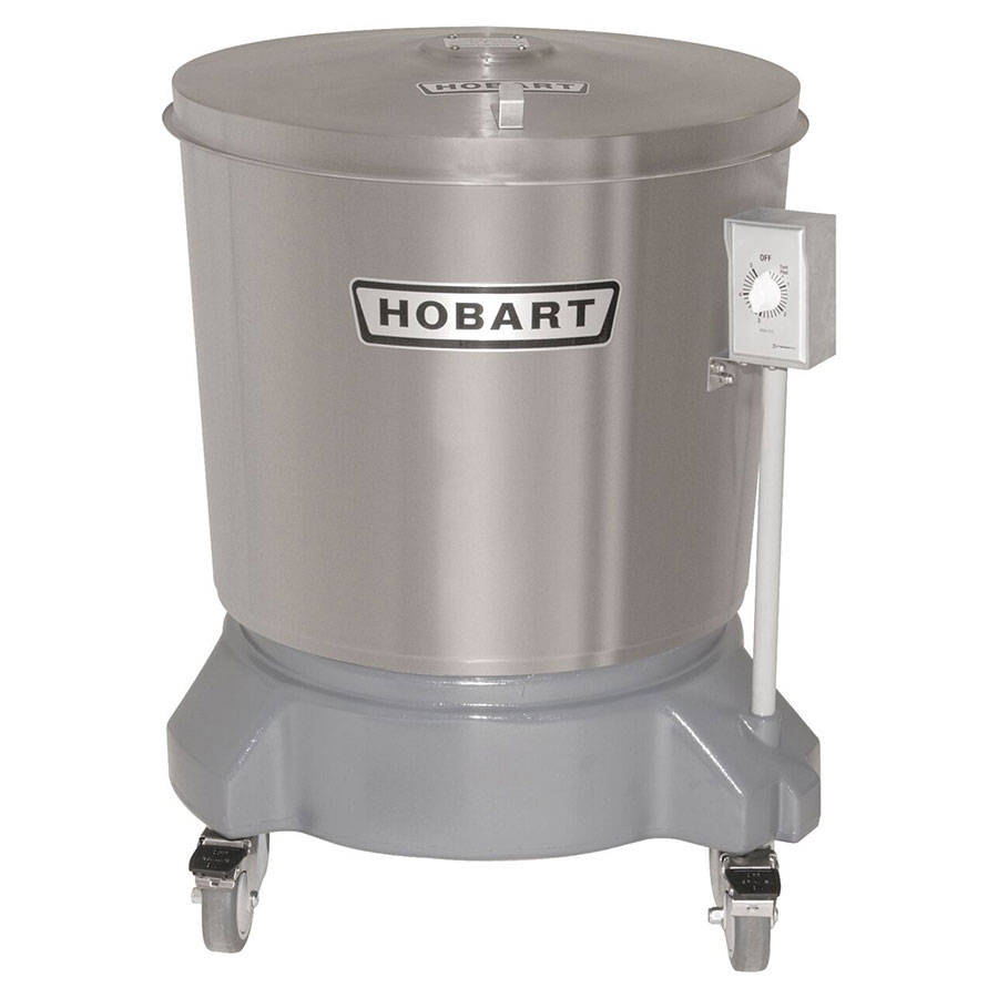 Hobart SDPS-12 20-Gallon Salad Dryer w/ Drain & Stainless Outer Tub, 220/1 V