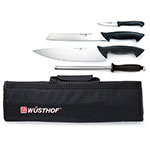 "Wusthof 2705 Starter Knife Set w/ 10"" Chef, 3.5"" Paring & 9"" Bread Knives, Steel, Case"