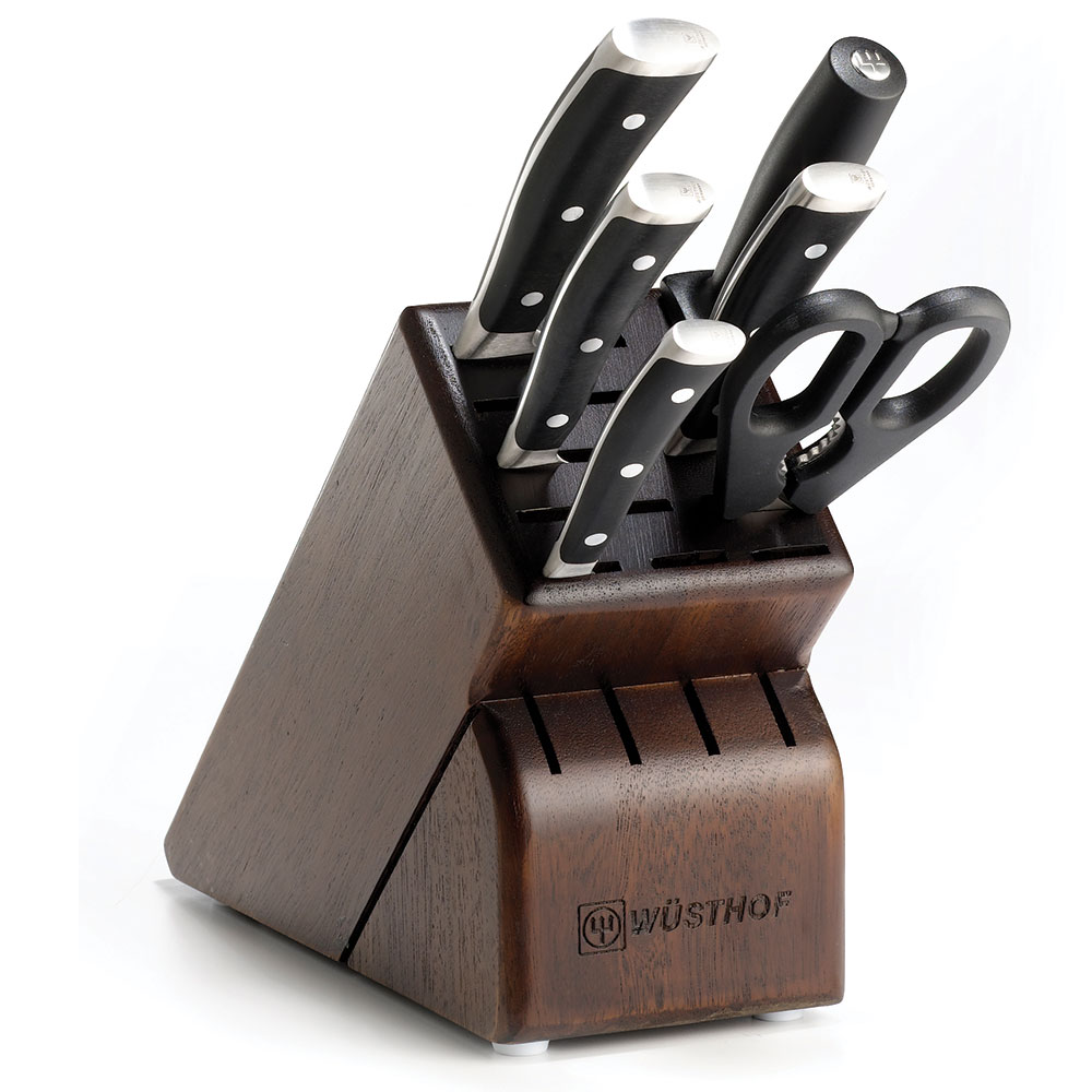 "Wusthof 8347-33 Knife Block Set - 6"" Utility, 8"" Bread, 3.5"" Paring & 8"" Cook's Knives"