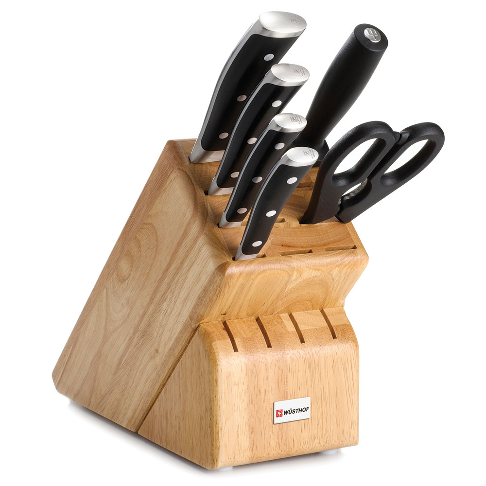 "Wusthof 8347 Knife Block Set - 6"" Utility, 8"" Bread, 3.5"" Paring & 8"" Cook's Knives"