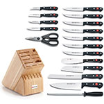 Wusthof 9718 Cutlery Set - (13) Assorted Knives, Shears, Steel and Block