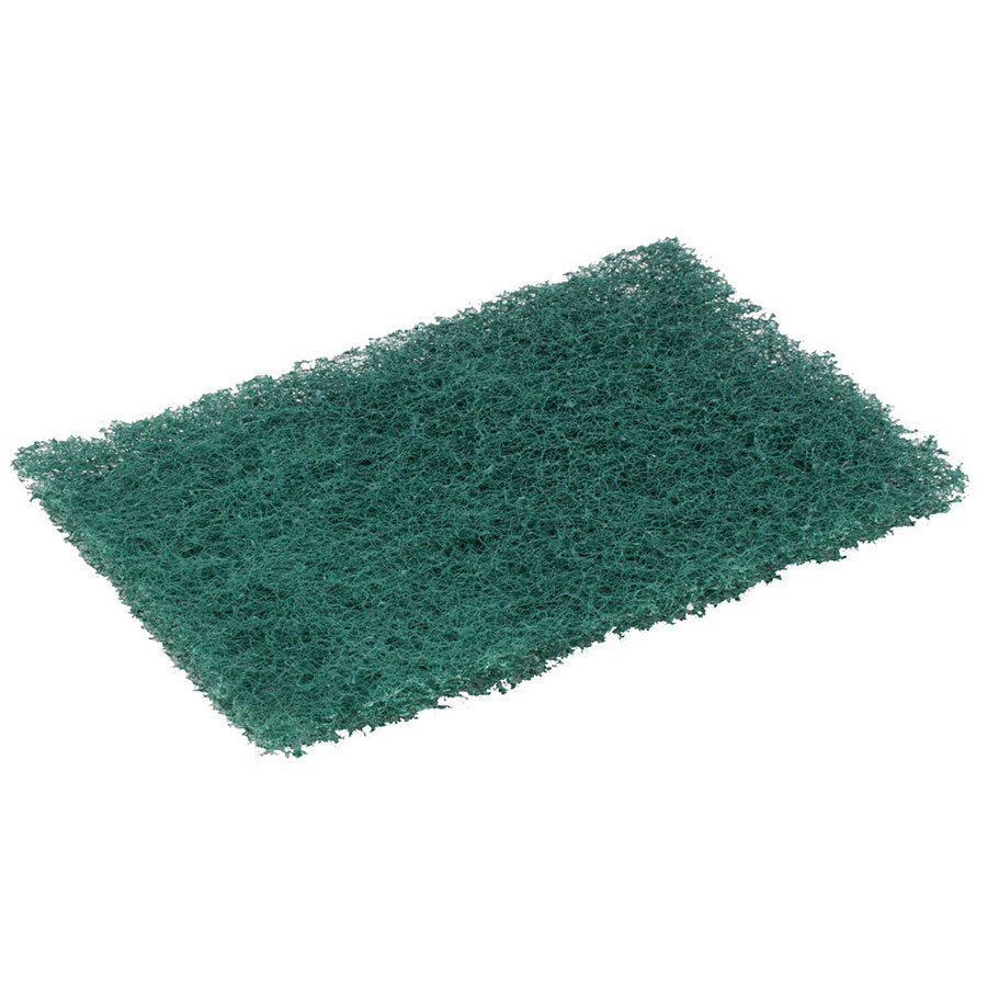 "3M 86CC Heavy-Duty Scouring Pads - 9"" x 6"", Green"