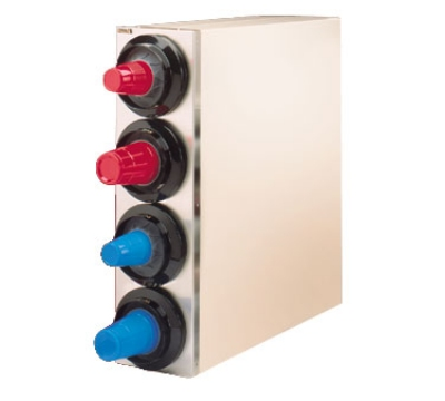 Modular Dispensing Systems 1015393 Cabinet Cup Dispenser w/ 4-Self-Adjusting Tubes, 2.25-4.62-in Diameter