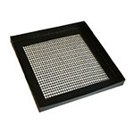 "Merrychef 32Z4081 Teflon Basket w/ Perforated Bottom for eikon™ e2s Series Ovens - 11"" x 11"", Black"