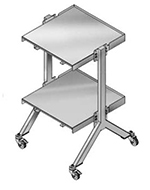 "Merrychef STACK48 48"" Double Oven Cart w/ Heavy Duty Stem Casters, For Double e4"
