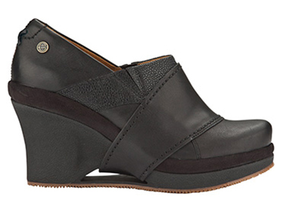 Mozo, Inc. 3731 BLK 55 Womens Divine Shoes w/ Elasticized Entry & 3-in Heel, Black, Size 5.5