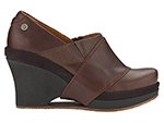 Mozo, Inc. 3731 BRN 6 Womens Divine Shoes w/ Elasticized Entry & 3-in Heel, Brown, Size 6