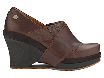 Mozo, Inc. 3731 BRN 105 Womens Divine Shoes w/ Elasticized Entry & 3-in Heel, Brown, Size 10.5