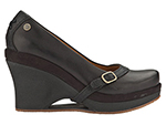Mozo, Inc. 3732 BLK 8 Womens Fresco Shoes w/ Elasticized Entry & 3-in Heel, Black, Size 8