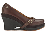 "Mozo 3732 BRN 8 Womens Fresco Shoes w/ Elasticized Entry & 3"" Heel, Brown, Size 8"