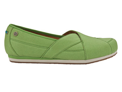 Mozo 3734 GRN 8 Womens Sports Shoes w/ Midsole Cushioning & Lightweight, Canvas, Green, Size 8