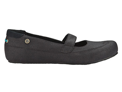 Mozo 3736 BLK 8 Womens Fab Shoes w/ Elasticized Entry & Lightweight, Canvas, Black, Size 8