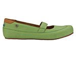 Mozo 3736 GRN 7.5 Womens Fab Shoes w/ Elasticized Entry & Lightweight, Canvas, Green, Size 7.5
