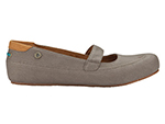 Mozo 3736 WAL 7.5 Womens Fab Shoes w/ Elasticized Entry & Lightweight, Canvas, Walnut, Size 7.5