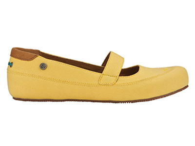 Mozo 3736 YEL 8 Womens Fab Shoes w/ Elasticized Entry & Lightweight, Canvas, Yellow, Size 8