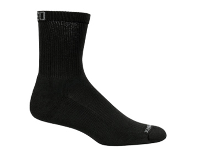 Mozo 373P L Crew Socks w/ Drymax Technology, Black, Size Large