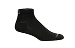 Mozo 374P M Quarter Crew Socks w/ Drymax Technology, Black, Size Medium