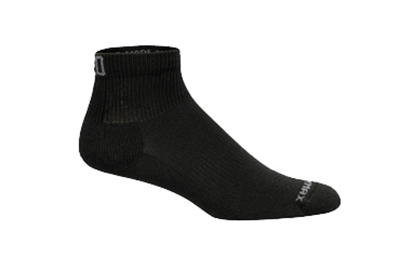 Mozo 374P S Quarter Crew Socks w/ Drymax Technology, Black, Size Small