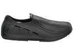 Mozo, Inc. 3812 Slip Resistant Men's Sharkz Shoes w/ Hooded Vents, Black, Size 7