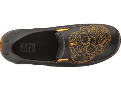 Mozo, Inc. 3821 BKO 11 Mens Lightweight Shoes w/ Ventilation & Gel Insoles, Orange Sugar Skull, Size 11