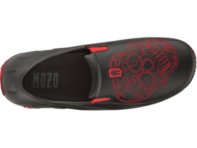 Mozo, Inc. 3821 BLK14 Mens Lightweight Shoes w/ Ventilation & Gel Insoles, Red Sugar Skull, Size 14