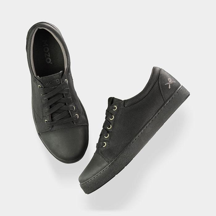 mozo 3839 bkw 15 s maverick canvas shoes slip