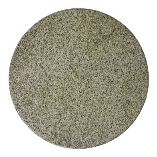 "Art Marble 24RD G212 24"" Round Granite Table Top - Indoor/Outdoor, Giallo Gold"