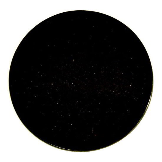 "Art Marble Furniture G206-24RD 24"" Round Granite Table Top - Indoor/Outdoor, Black Galaxy"