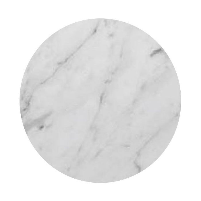 "Art Marble Q401-24R 24"" Round Quartz Table Top - Indoor/Outdoor, Carrera White"