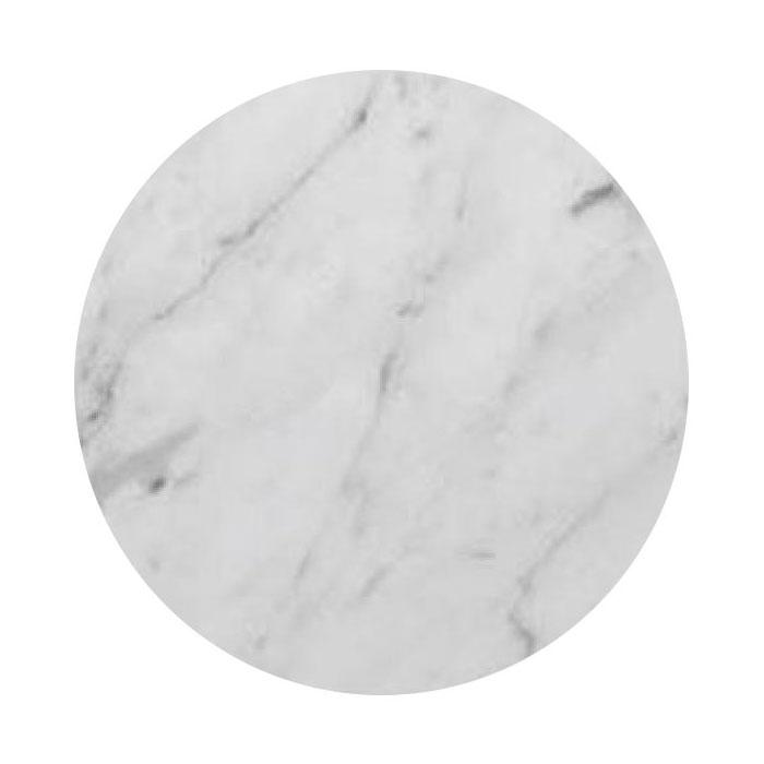 """Art Marble Q401-36R 36"""" Round Quartz Table Top - Indoor/Outdoor, Carrera White"""