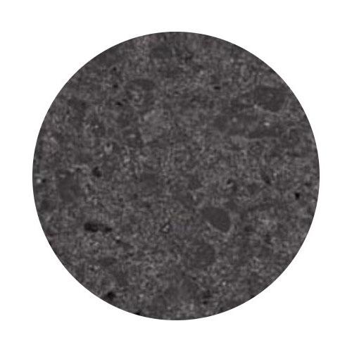 "Art Marble Q405-36R 36"" Round Quartz Table Top - Indoor/Outdoor, Storm Gray"