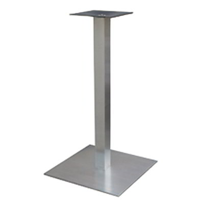 "Art Marble Furniture SS05-23H 40.75"" Square Base - Indoor/Outdoor, Sinlge Column, Stainless"