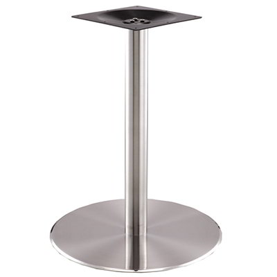 "Art Marble SS14-23D 28.75"" Round Base - Indoor/Outdoor, Dining Height, Stainless"