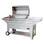 "Big Johns Grills & Rotisseries 210-40/20M 40"" Mobile Gas Commercial Outdoor Grill w/ Rotisserie, LP"