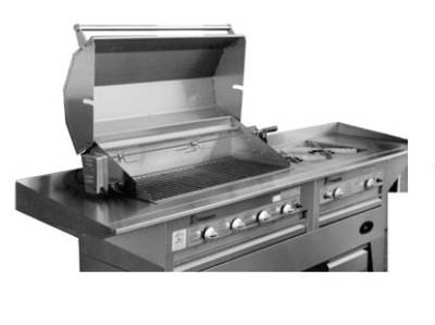 Big Johns Grills & Rotisseries 40HOODSS Stainless Steel Cooking Hood For SSCH-40