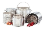 Big Johns Grills & Rotisseries 40 QT. POT 40-qt Aluminum Pot Set w/ Pot, Basket & Lid