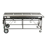 "Big Johns Grills & Rotisseries A4CC-LPSS 65"" Mobile Gas Commercial Outdoor Grill w/ Multiple Heat Zones, LP"