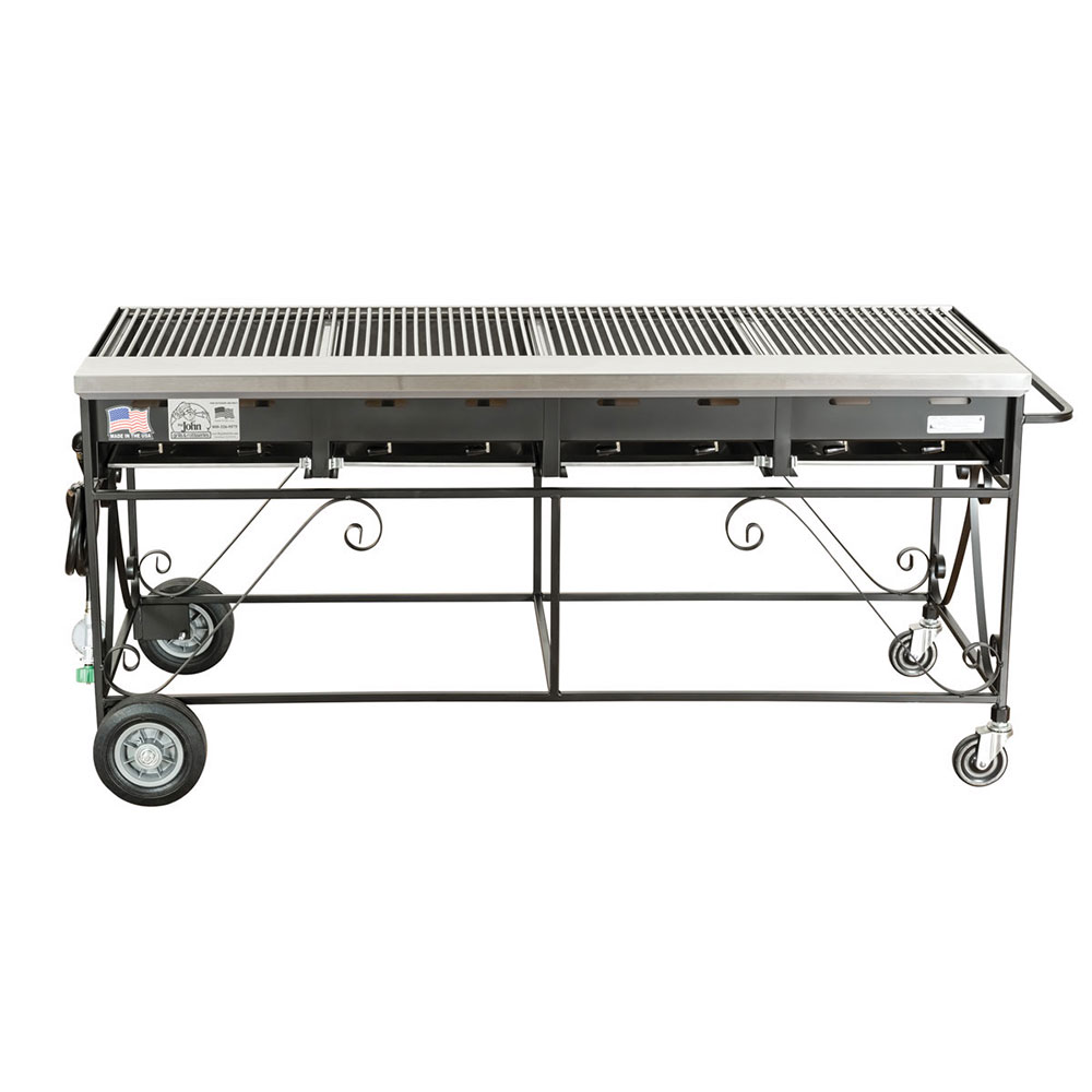 Big Johns Grills & Rotisseries A4CC-LPCI 8-Burner Gas Grill w/ Cast Iron Grates