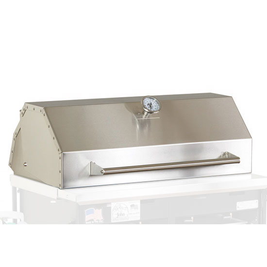 Big Johns Grills & Rotisseries A4HOOD Roll-Top Hood For A4P Grill